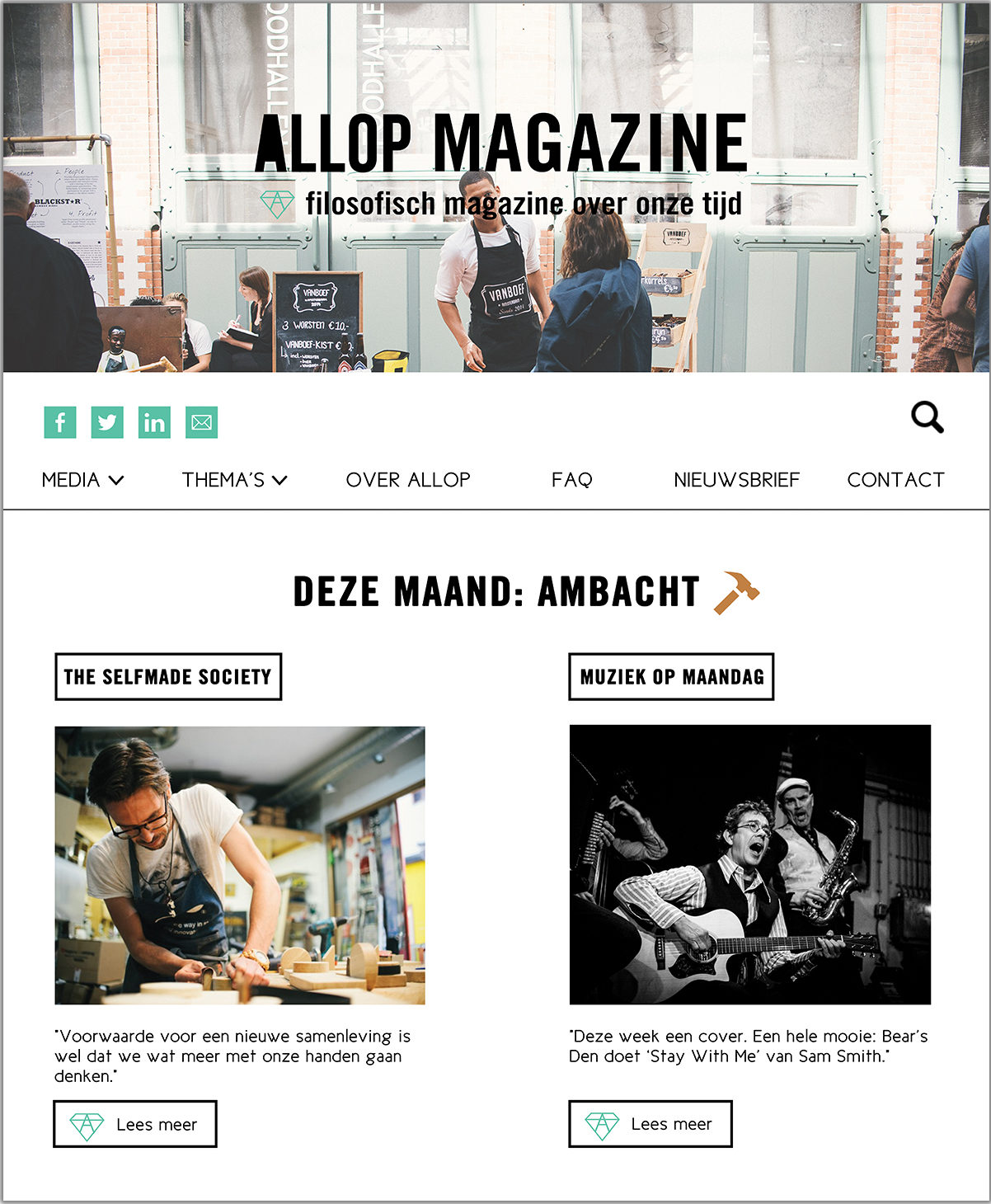 Allop Magazine Website Lay-out