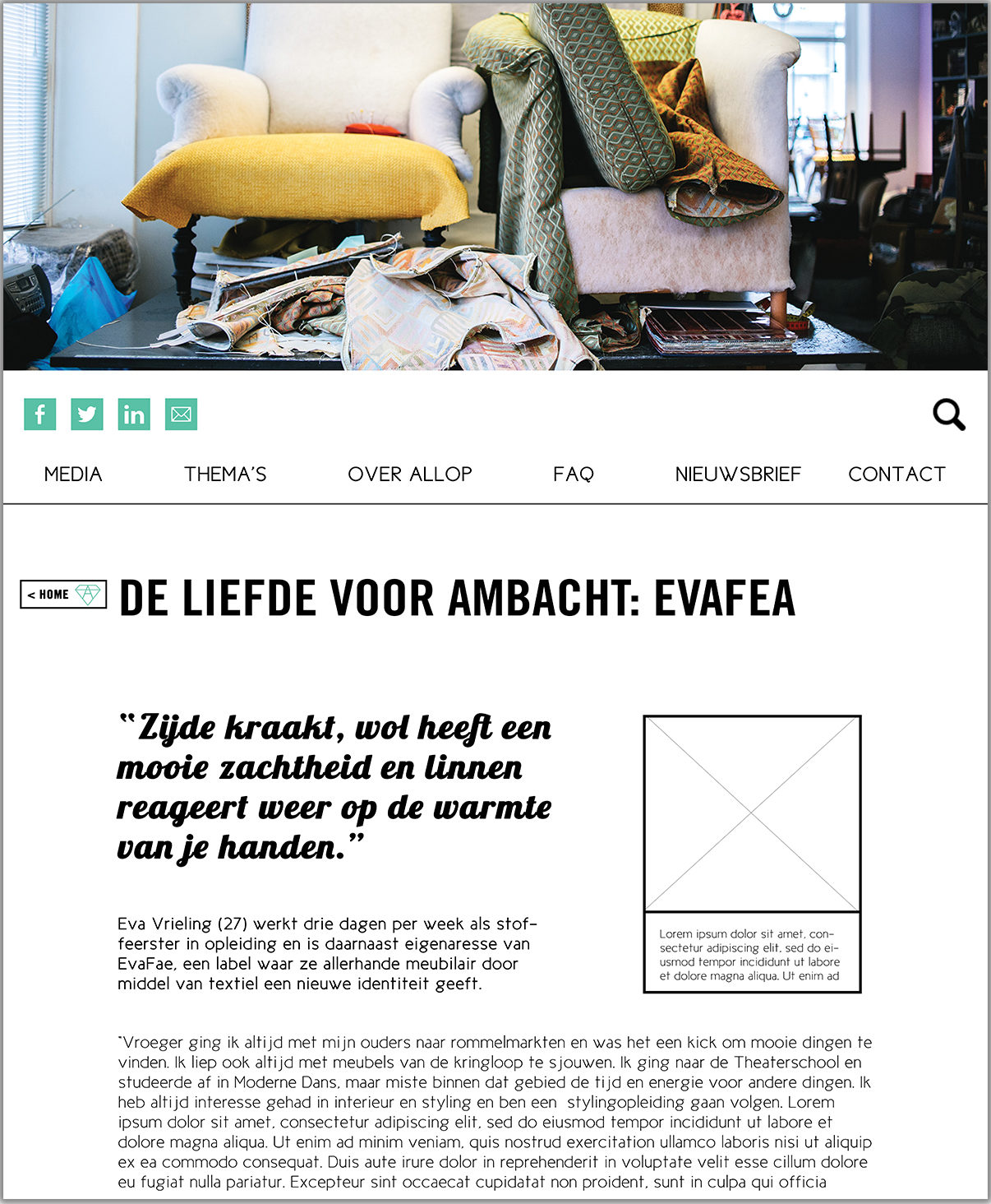 Allop Magazine Website Blog Artikel Lay-out
