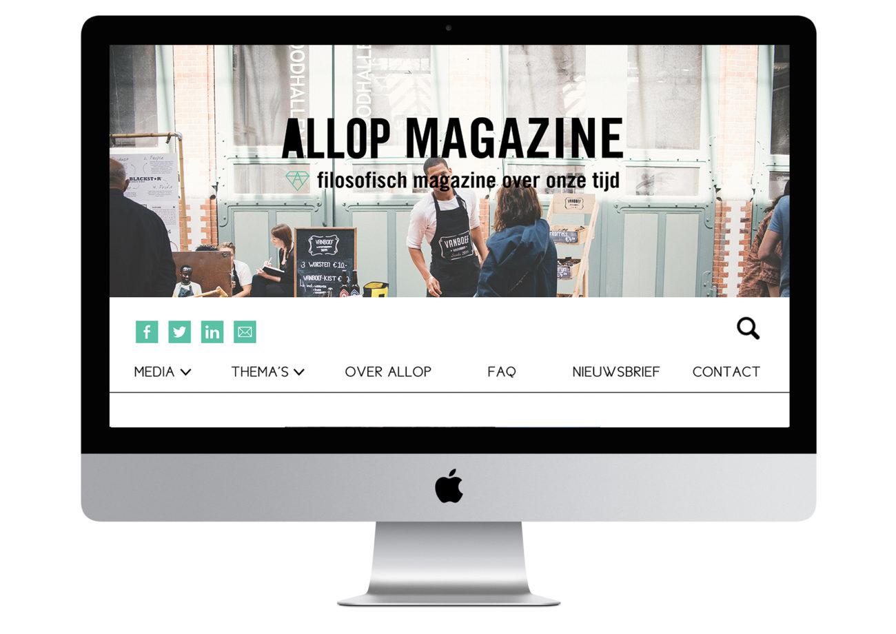 Allop Magazine Website Design